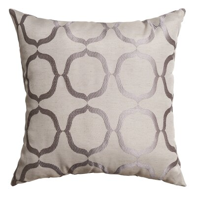 Lapeer Throw Pillow Color: Silver