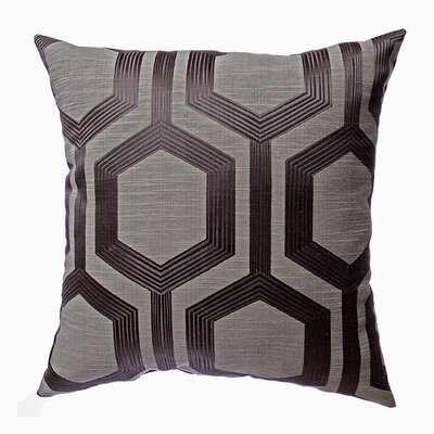 Keiu Throw Pillow Color: Gunmetal