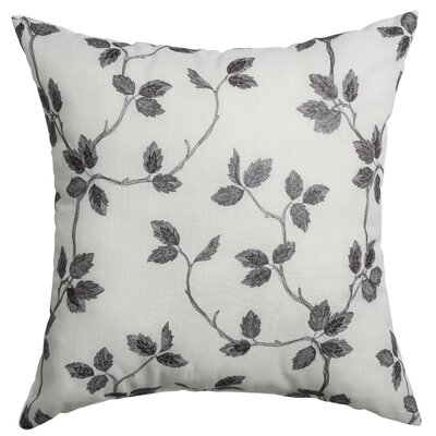 Adelle Throw Pillow Color: Pewter