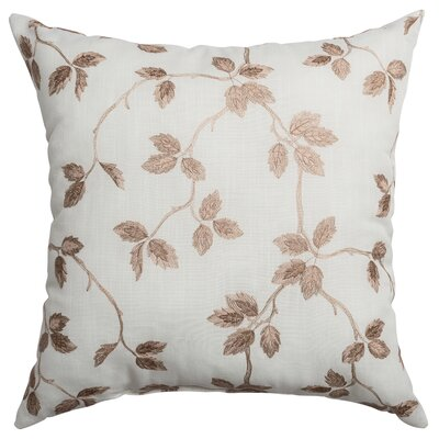 Adelle Throw Pillow Color: Latte