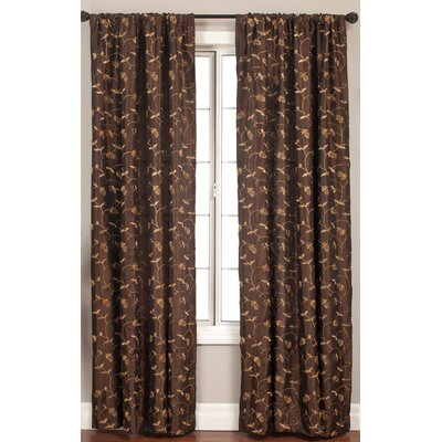 Softline Home Fashions Lili Curtain Panel in Chocolate - Size: 120