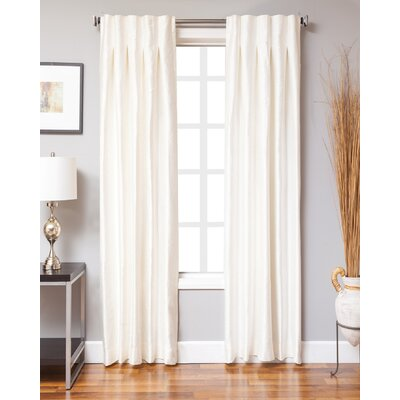 Keffer Solid Sheer Rod pocket Single Curtain Panels