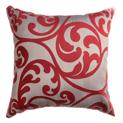 Karaj Throw Pillow Color: Cardinal Red