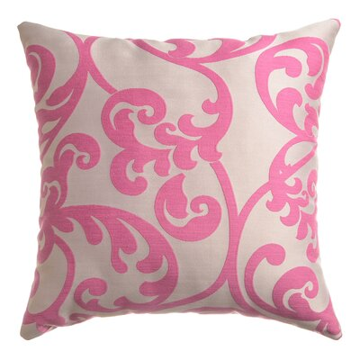 Karaj Throw Pillow Color: Flamingo Pink