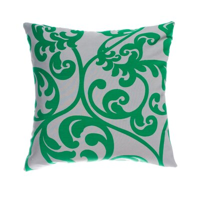 Karaj Throw Pillow Color: Peacock Green