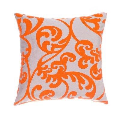 Karaj Throw Pillow Color: Tangerine