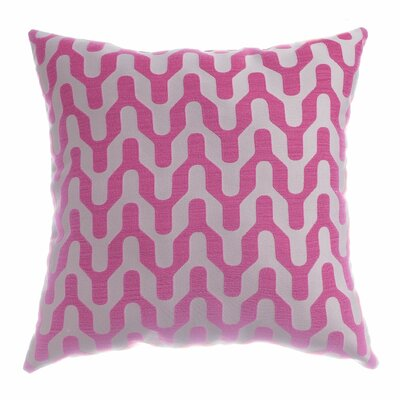 Victor Throw Pillow Color: Flamingo Pink