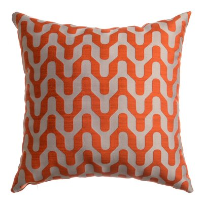 Victor Throw Pillow Color: Tangerine