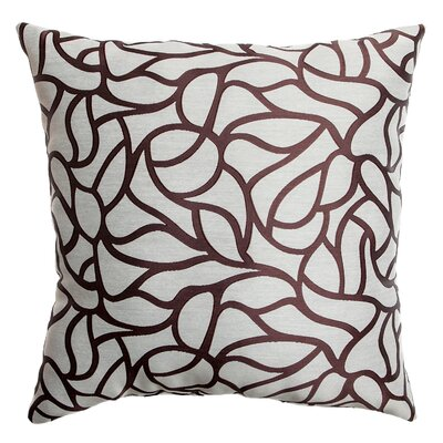 Basra Throw Pillow Color: Latte