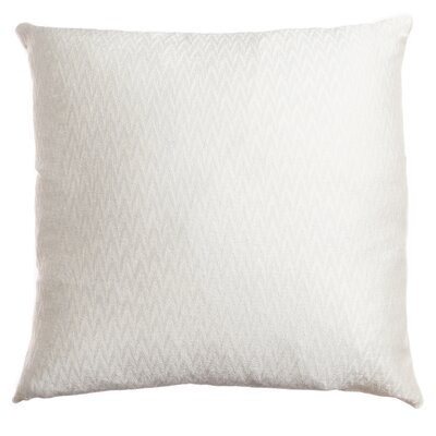Longview Chevron Decorative Throw Pillow Color: White