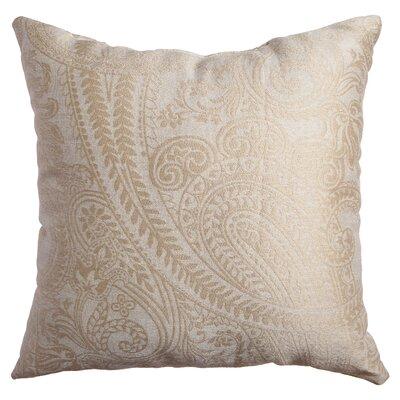 Longview Paisley Decorative Throw Pillow Color: Champagne