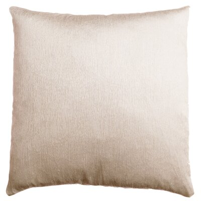 Longview Solid Decorative Throw Pillow Color: Champagne