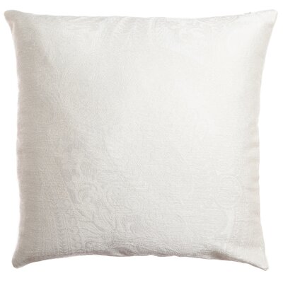 Longview Paisley Decorative Throw Pillow Color: White