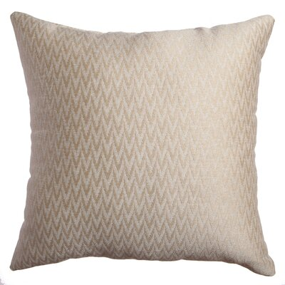 Longview Chevron Decorative Throw Pillow Color: Champagne