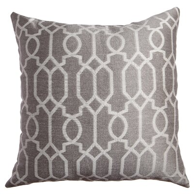 Longview Decorative Throw Pillow Color: Silver