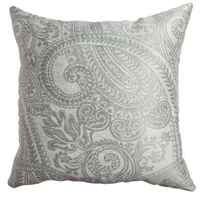 Longview Paisley Decorative Throw Pillow Color: Spa