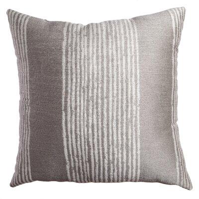 Longview Stripe Decorative Throw Pillow Color: Silver