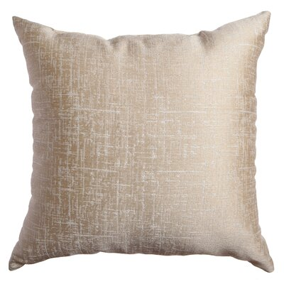 Longview Texture Decorative Throw Pillow Color: Champagne