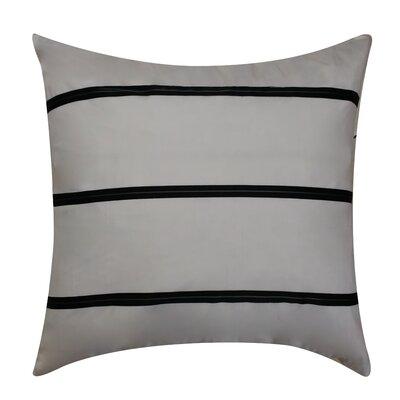 Sonny Decorative Silk Throw Pillow Color: Black