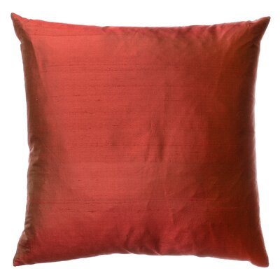 Parkison Decorative Silk Throw Pillow Color: Burgundy