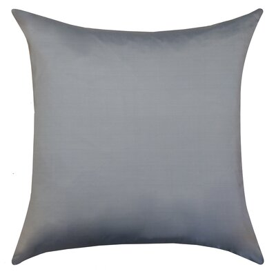 Sonny Decorative Square Silk Throw Pillow Color: Silver
