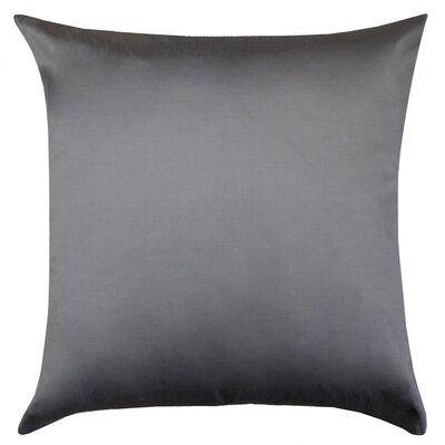 Sonny Decorative Square Silk Throw Pillow Color: Metal