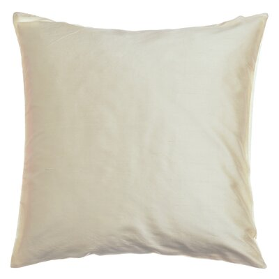 Parkison Decorative Silk Throw Pillow Color: Ivory