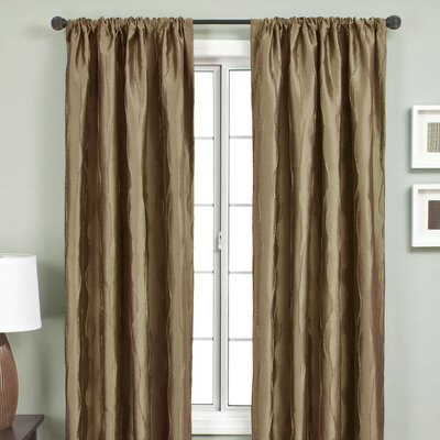 "Softline Home Fashions Lula Rod Pocket Curtain Panel - Size: 84""L  x 54""W, Color: Antique Gold at Sears.com"