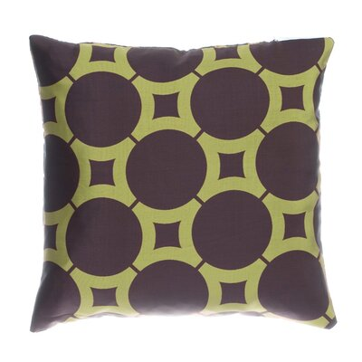 Element Circle Throw Pillow Color: Chocolate / Kiwi