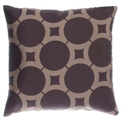 Element Circle Throw Pillow Color: Latte