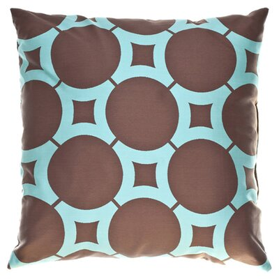 Element Circle Throw Pillow Color: Chocolate