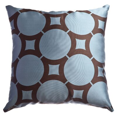 Element Circle Throw Pillow Color: French Blue