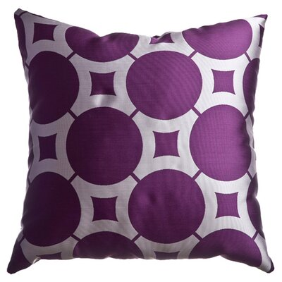 Element Circle Throw Pillow Color: Purple