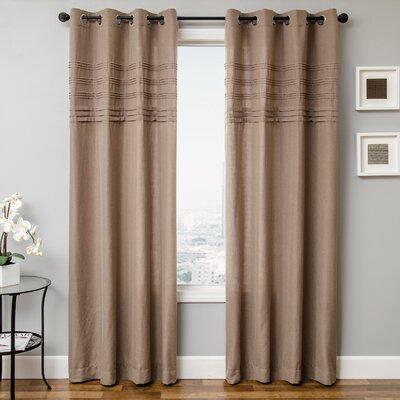 Softline Home Fashions Canvas Rod Pocket Single Curtain Panel - Color: Latte, Size: 96