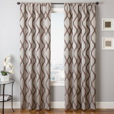 "Softline Home Fashions Samantha Rod Pocket Window Curtain Panel - Size: 96"" x 55"", Color: Latte at Sears.com"