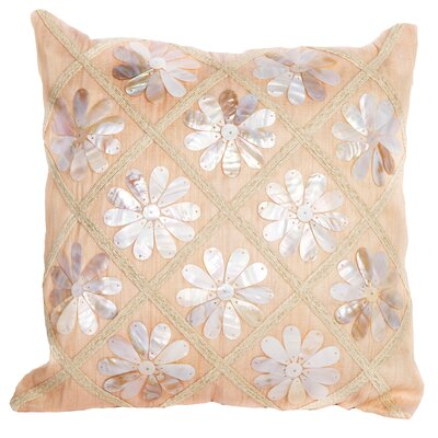 Sea Side Flower Shells Throw Pillow