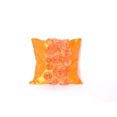 Spring Flower Throw Pillow Color: Orange