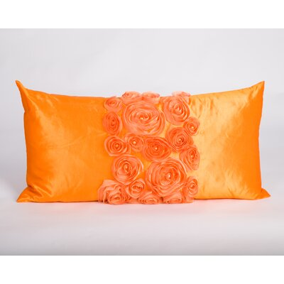 Spring Flower Lumbar Pillow Color: Orange