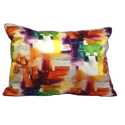 Mirasol Cubism Painting Lumbar Pillow (Set of 2) Color: Red