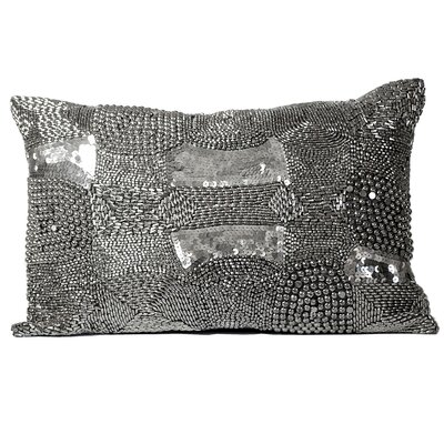 Mirasol Industrial Look Beading Feather Lumbar Pillow (Set of 2)