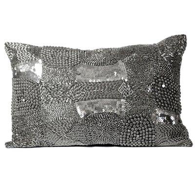 Mirasol Industrial Look Beading Feather Lumbar Pillow (Set of 2)