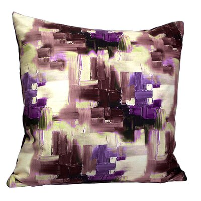 Mirasol Cubism Painting Feather Throw Pillow (Set of 2) Color: Purple