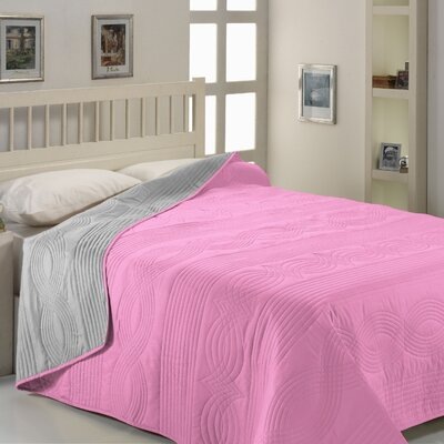 City Sleep Blanket Size: Twin / Full, Color: Pink