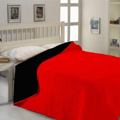 City Sleep Blanket Size: Twin / Full, Color: Red
