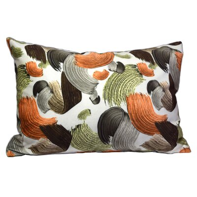 Solley Paint Bruch Painting Lumbar Pillow (Set of 2) Color: Orange