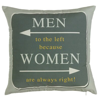 Costal Women is Always Right Throw Pillow