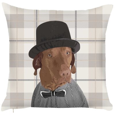 Costal Exquisite Mr Dog Throw Pillow Color: Gray