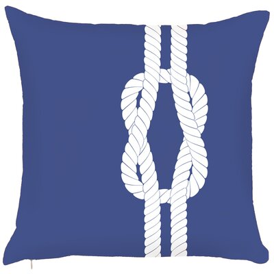 Costal Sailors Knots Hook Throw Pillow