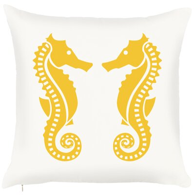 Costal Seahorse Throw Pillow