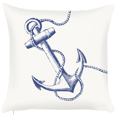 Costal Anchor Throw Pillow